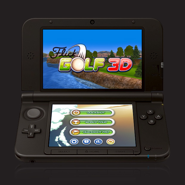 Full Fat's first 3DS game Flick Golf 3D will be out in time for the Masters Tournament