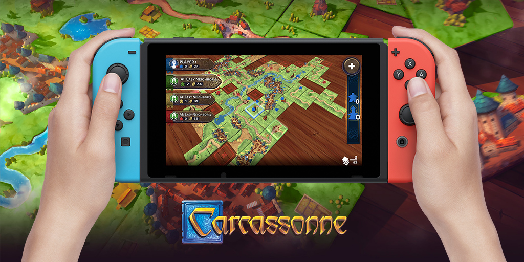 Carcassonne is coming to Switch, and we think it's going to be a perfect fit
