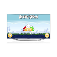 See Angry Birds played on Samsung Smart TV