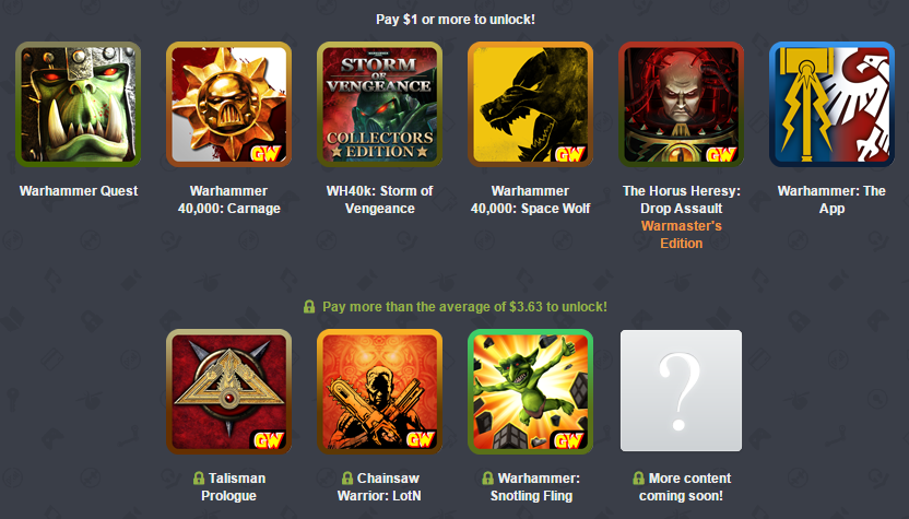 The new Humble Mobile Bundle will scratch that Warhammer gaming itch