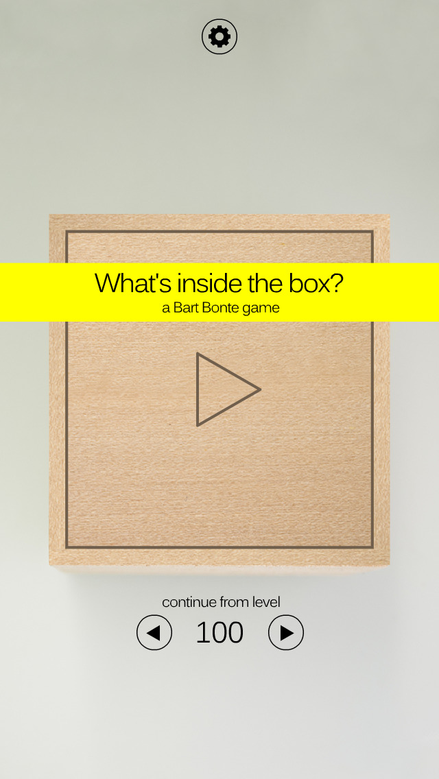 Bart Bonte's tactile new puzzler asks a simple question: What's Inside The Box?