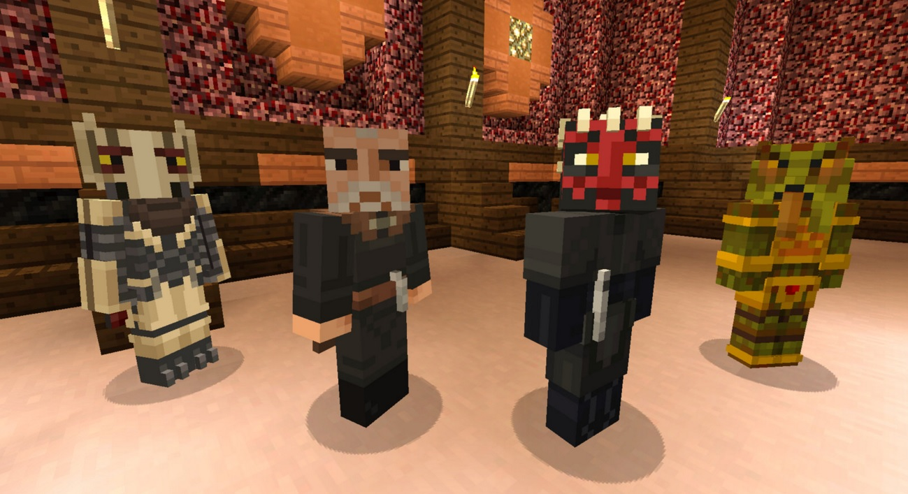 Minecraft on PS Vita adds a new Halloween world and even more Star Wars skins