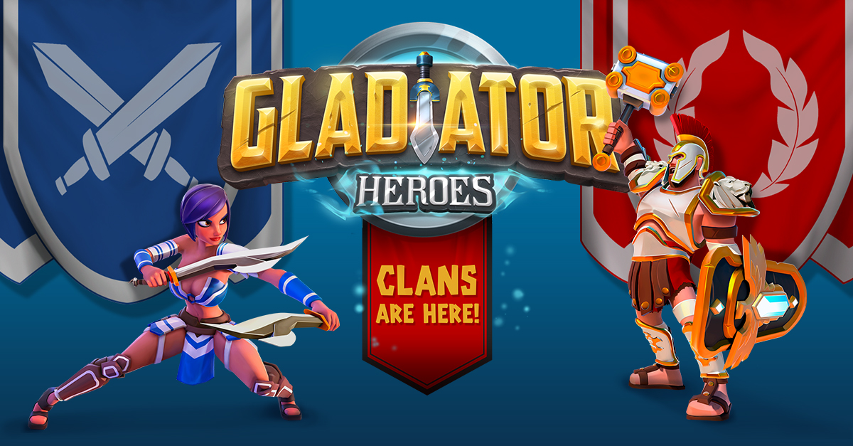 The creators of Gladiator Heroes explain how the clans update is down to the players
