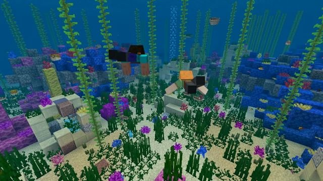 Things are getting aquatic in Minecraft's new underwater update for iOS, Android, and Nintendo Switch