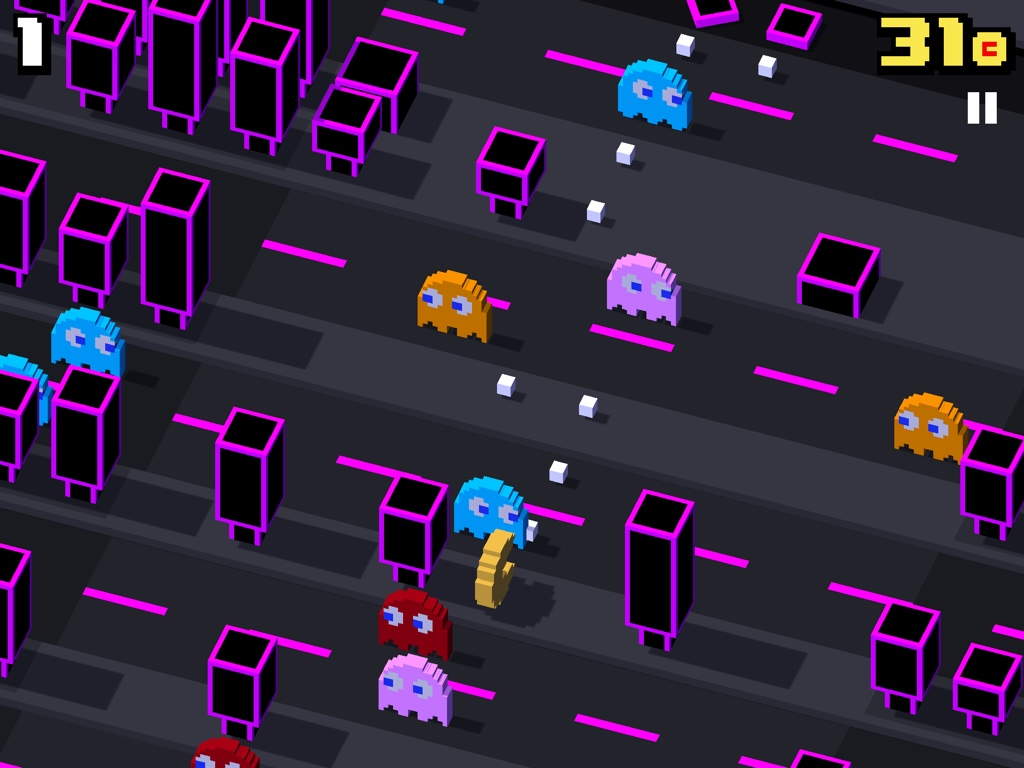 Pac-Man and pals invade Crossy Road in free iOS update
