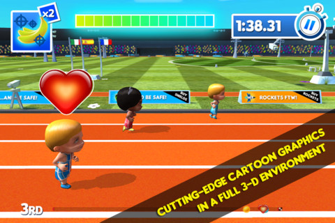Compete for gold in Track & Tricks for iOS and Android