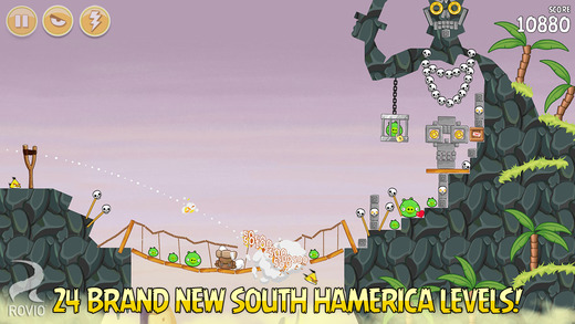Angry Birds Seasons updated with 24 new levels in and around the mountains of South Hamerica