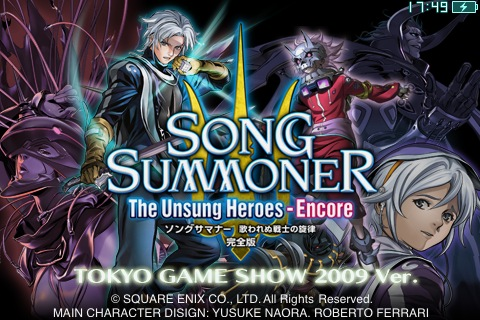 TGS 09: Square Enix reveals Song Summoner: The Unsung Heroes - Encore for iPhone