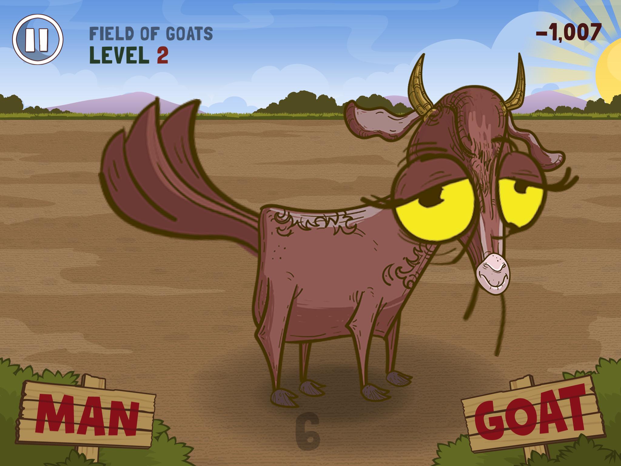 Man or Goat iPhone,iPad, screenshot 1