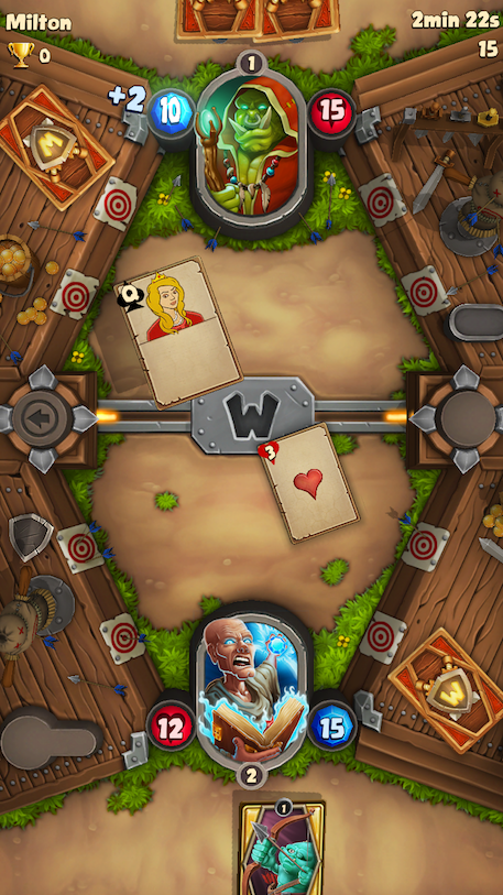 Wagers of War review - Hearthstone gives Clash Royale a hug over a game of snap