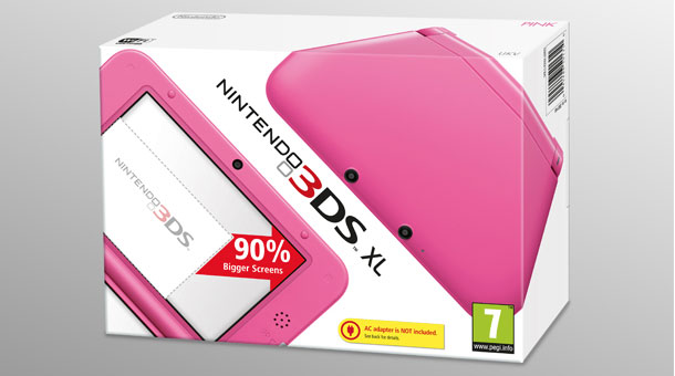 Nintendo releasing Pink 3DS XL in the UK on May 31st