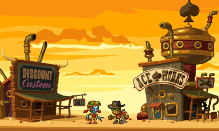 Upcoming platform-mining game SteamWorld Dig sure is purdy