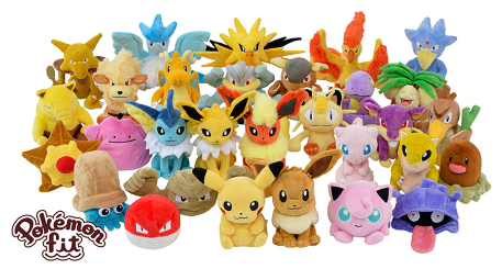 The original 151 Pokemon are getting all new plushies in Japan