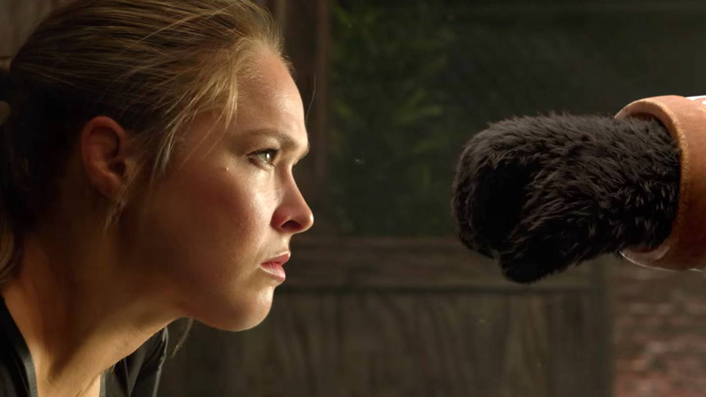 Ronda Rousey knocks out Taichi Panda commercial in under 34 seconds