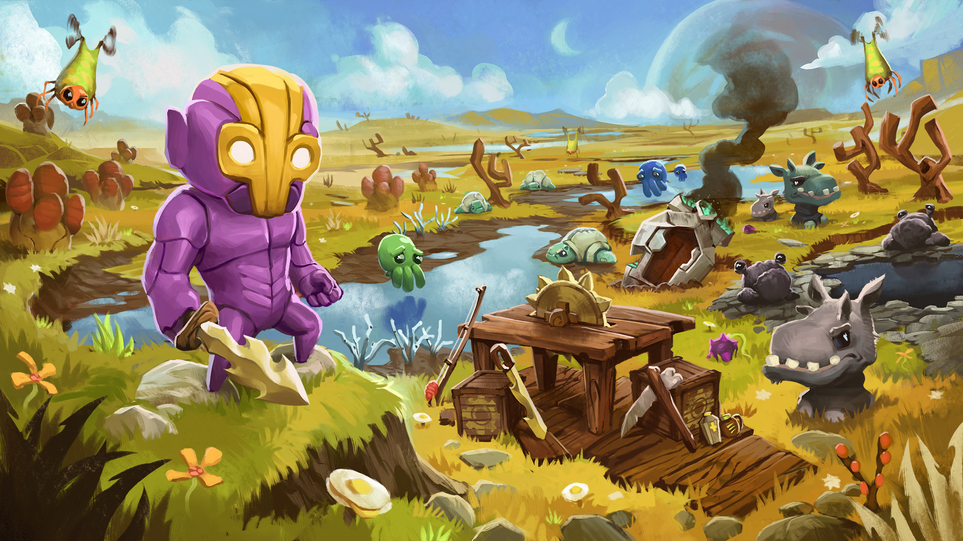 [Update] Crashlands is getting a new patch tomorrow, adds new colorblind options, enhances map and more