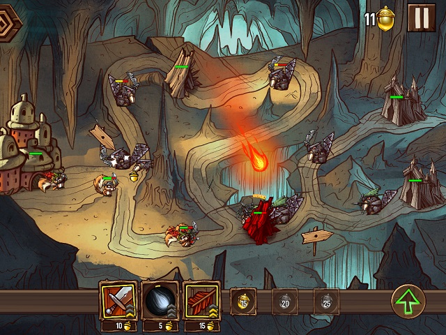 Squirrels take on beavers in hand-drawn iOS strategy game Tree Wars on January 23rd