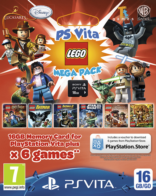 6-game Lego Mega Pack Vita bundle will be available this spring