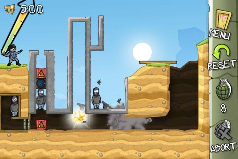 iPhone throw-'em-up Fragger goes free for today only, Fragger HD on iPad also free for a 'limited time'