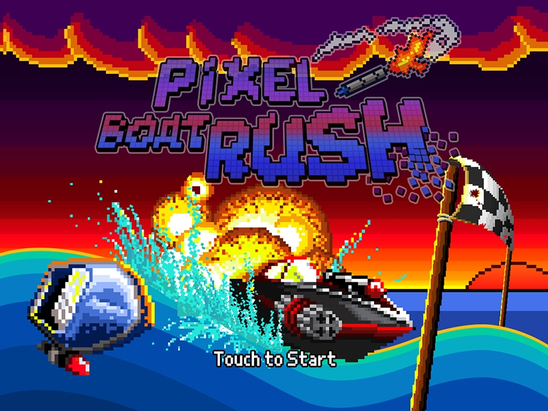 One-touch racer Pixel Boat Rush rides the waves into a price drop on iOS