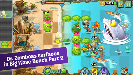 Plants vs Zombies 2 has been updated with a load of new beach-based content for Android and iOS
