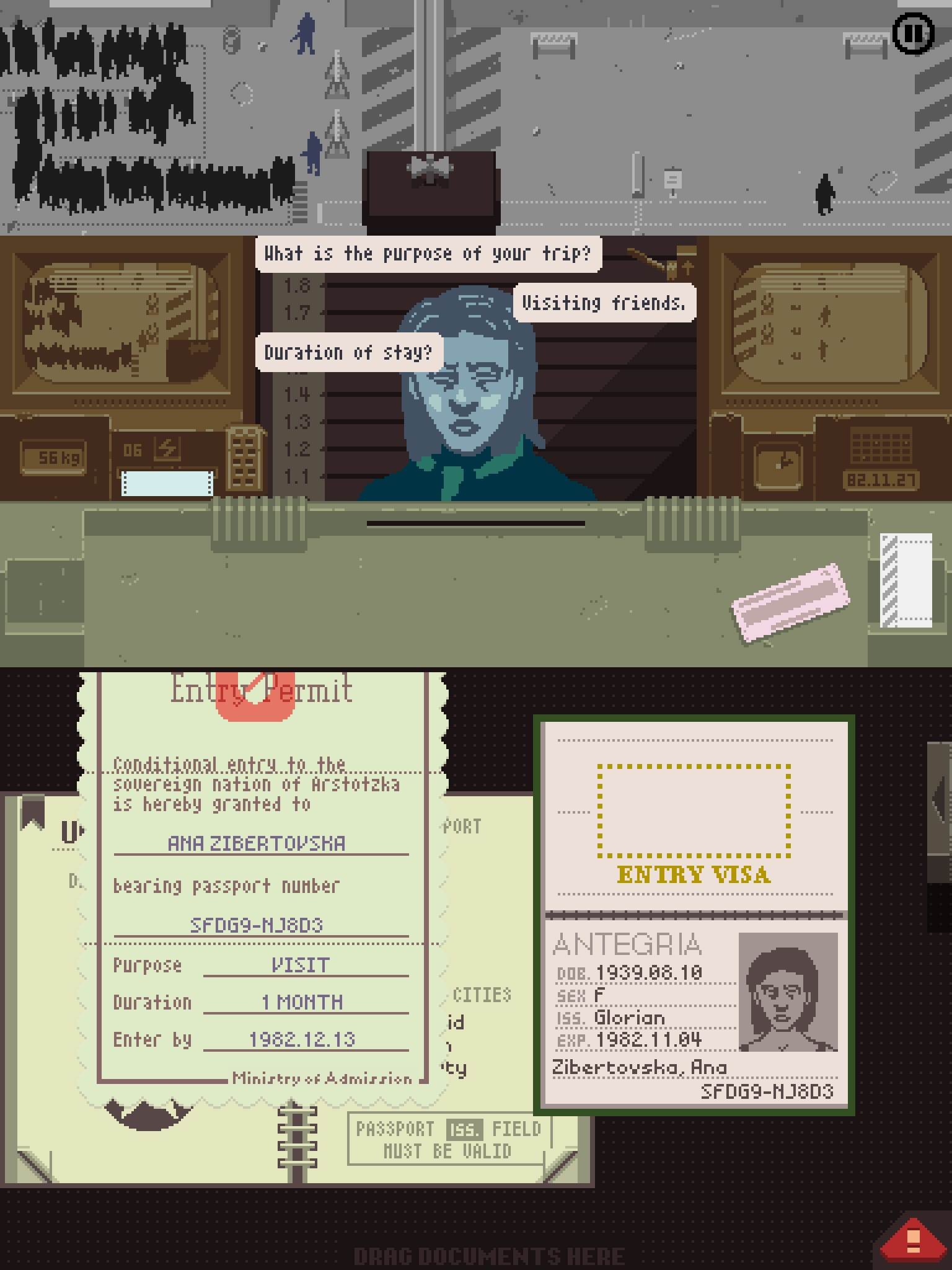 The gripping indie thriller Papers, Please arrives on PS Vita this week