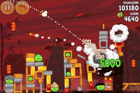 Angry Birds Seasons updated with 15 new levels  for Chinese New Year