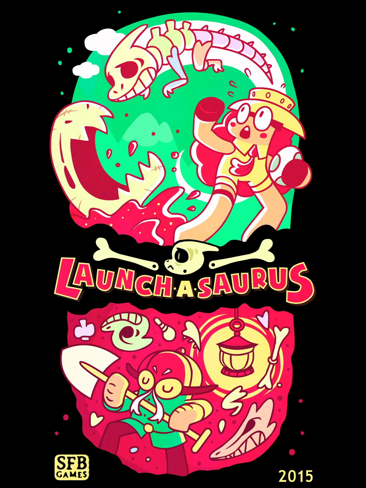 Bonkers dinosaur curling game Launchasaurus took first prize at our Big Indie Pitch at Apps World