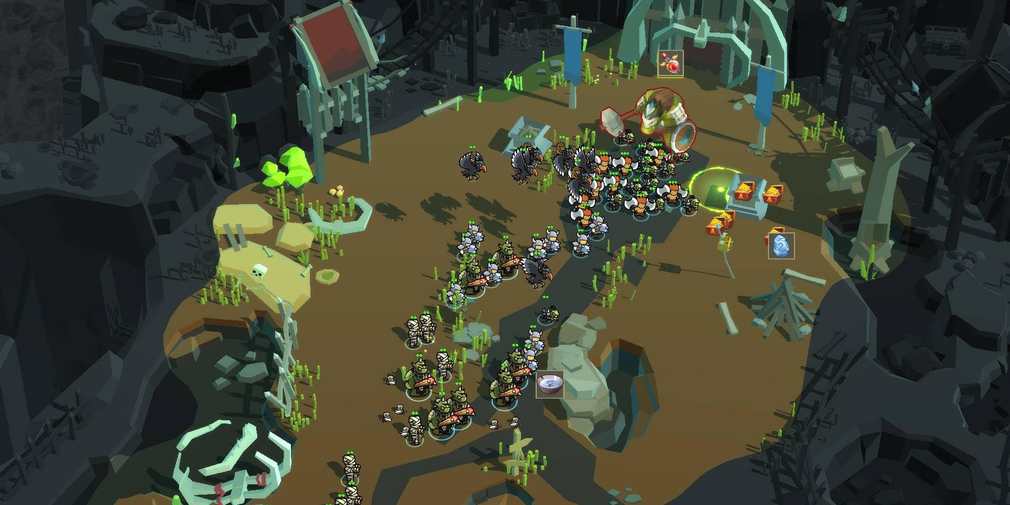 Alchemy War is a low-poly, RTS with in-depth unit control