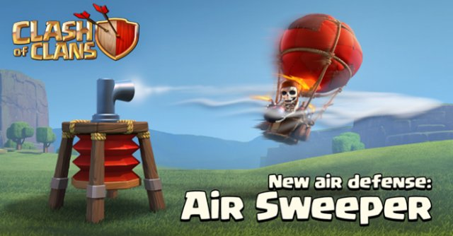 Clash of Clans' April update features the Air Sweeper, a new air defense unit