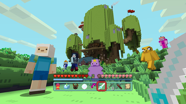 An Adventure Time mash-up pack is on its way to Minecraft: Pocket Edition/Windows 10
