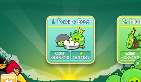 Angry Birds Poached Eggs 3-star video walkthroughs