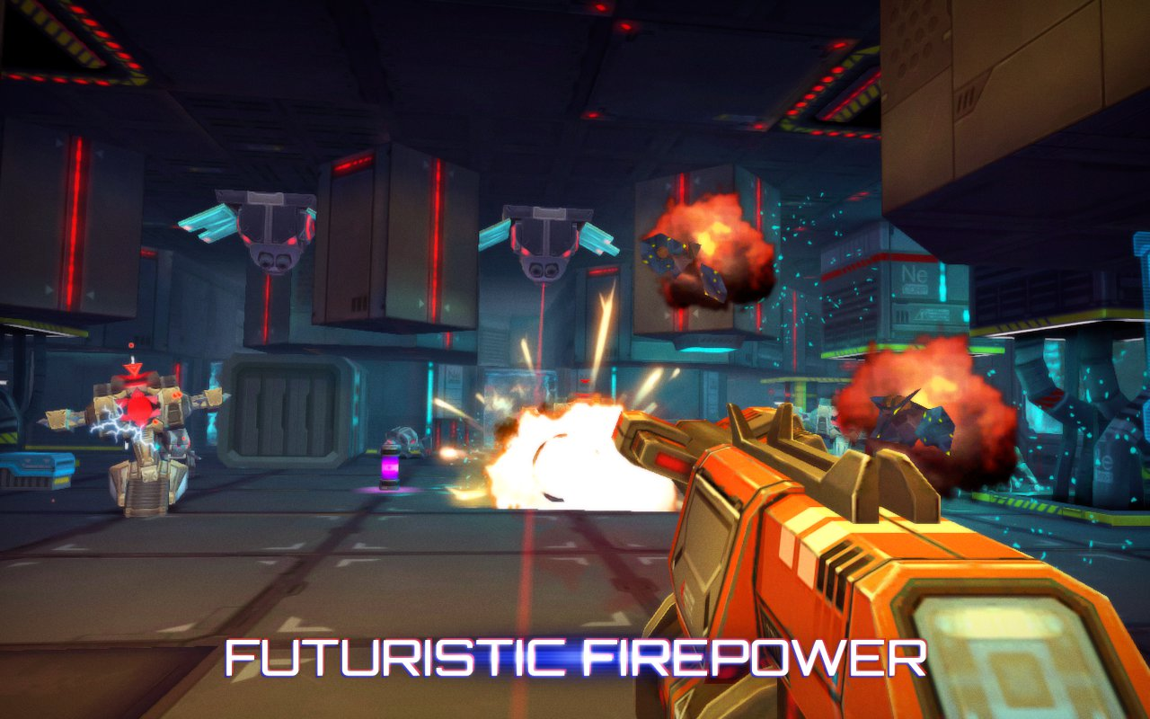 Out at midnight: Shoot crazy robots until they explode in Neon Shadow for iPad and iPhone