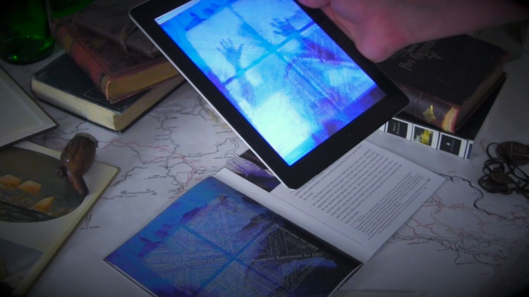 Shape a physical book's story with your iPad in The Ice-Bound Concordance
