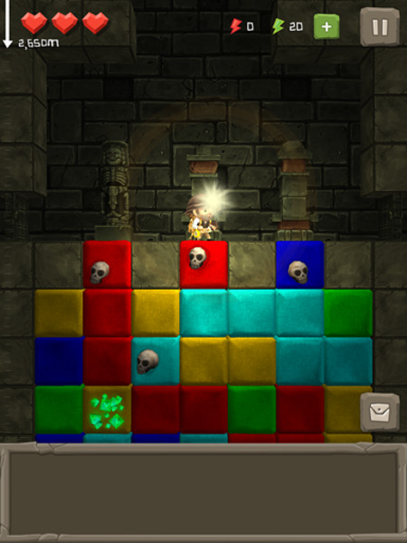 Out at midnight: Puzzle to the Center of the Earth is a mash up of a platformer and a match-three for iPad and iPhone