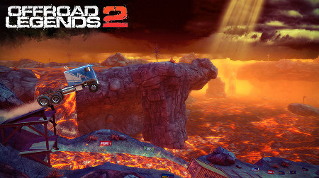 Offroad Legends 2 is a big dirty driving platformer that's set to hit iPad and iPhone in November