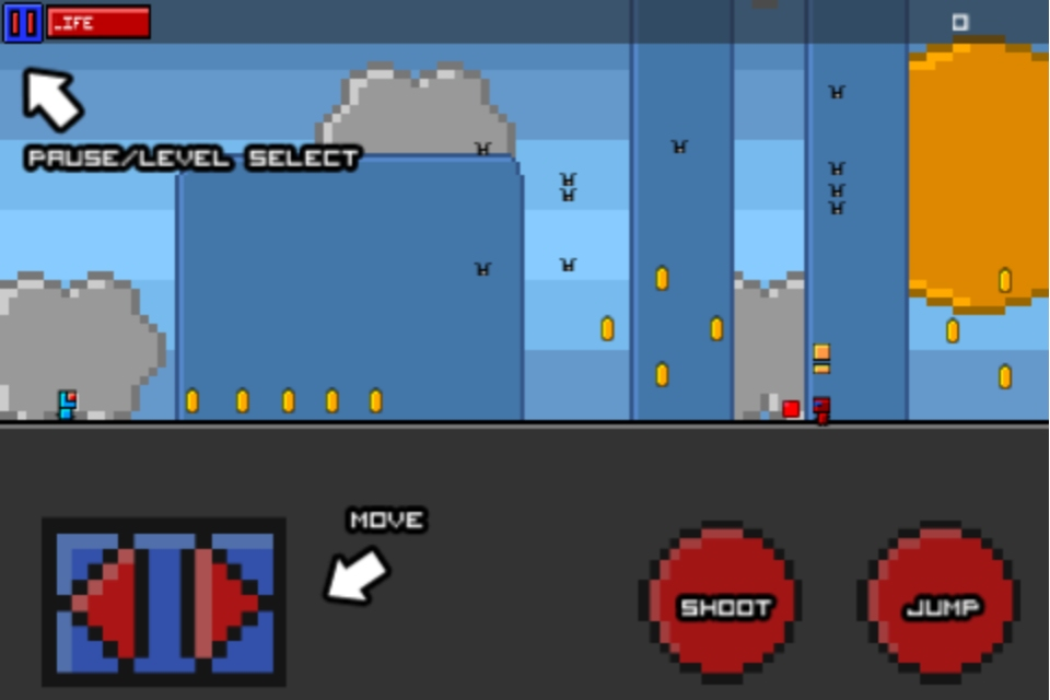 Old skool platformer Bit-1 now shooting, jumping, and out-bossing on the iPhone