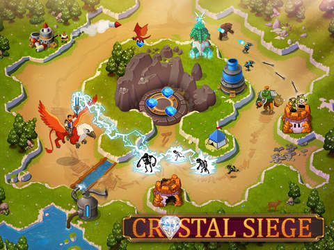 Out at midnight: RPG / tower defence hybrid Crystal Siege HD lets you ride a griffin into battle