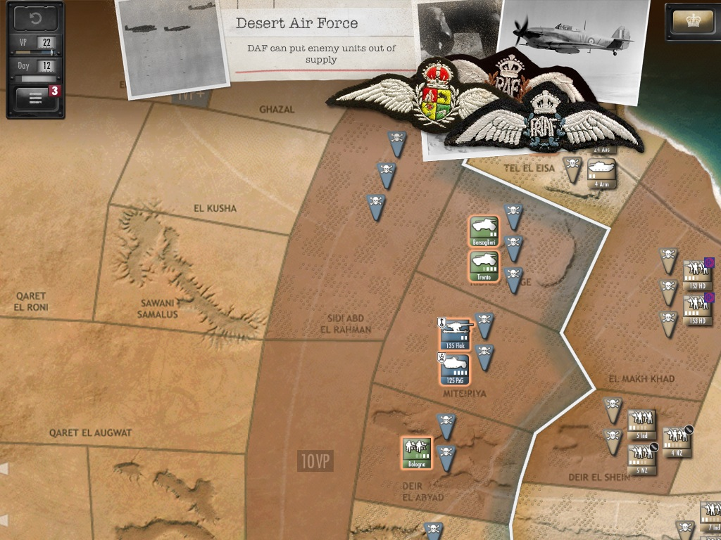 Out at midnight: Desert Fox: The Battle of El Alamein is another deep historical strategy battler from Shenandoah for iPhone and iPad