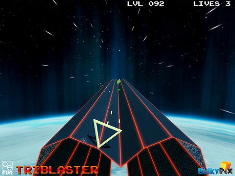 TriBlaster is an engagingly old-fashioned vector shooter for iOS and Android