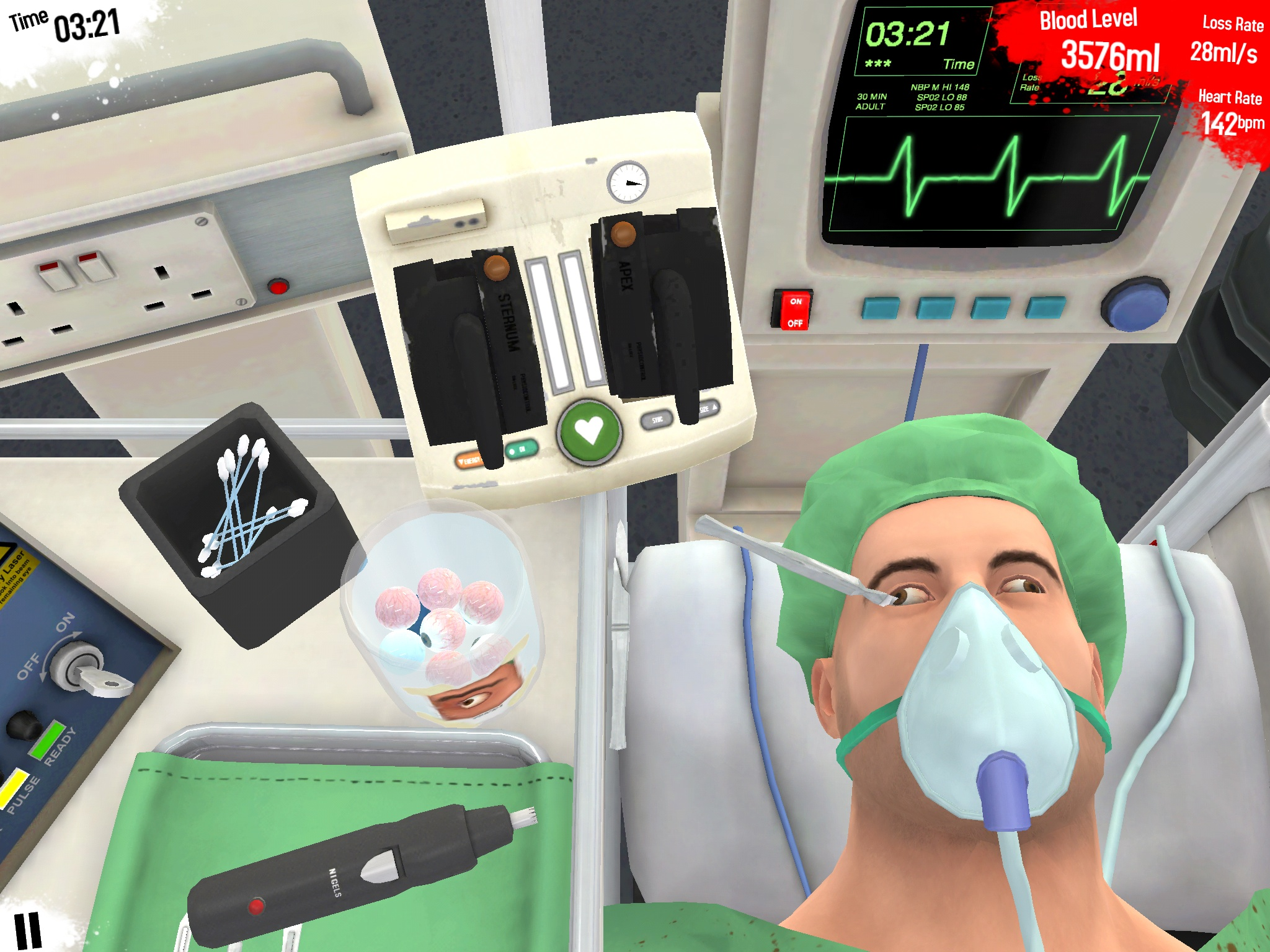 You can now perform an alien transplant in the new Surgeon Simulator update