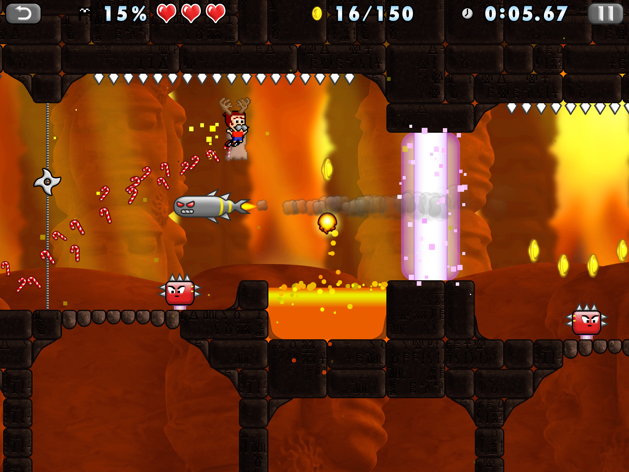 Silver Award-winning Mikey Boots drifts past a spike, lands on Android