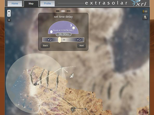 Alien planet exploration game Extrasolar gets a smart, new mobile interface