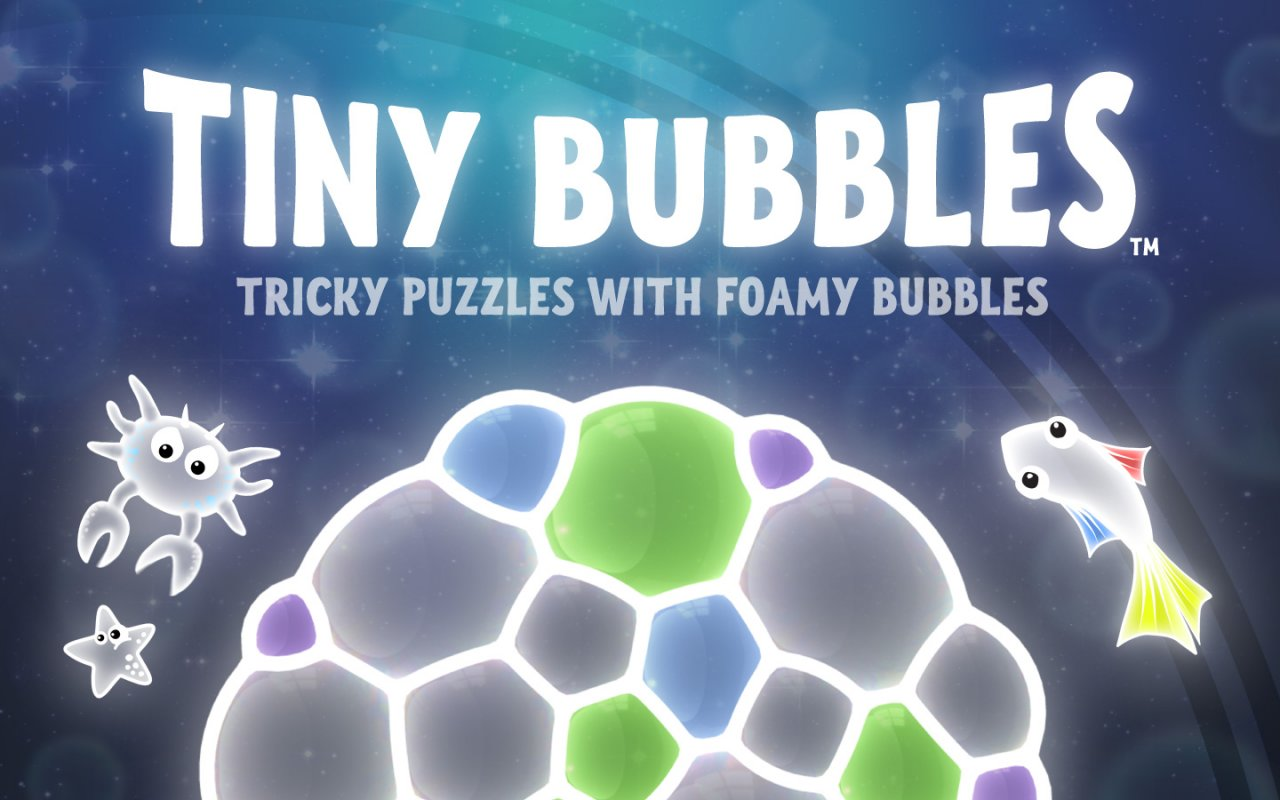 Bright and bubbly puzzler Tiny Bubbles launches today on iOS and Steam