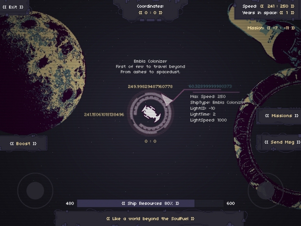 Communicate with other players over the radio in space survival game RymdResa