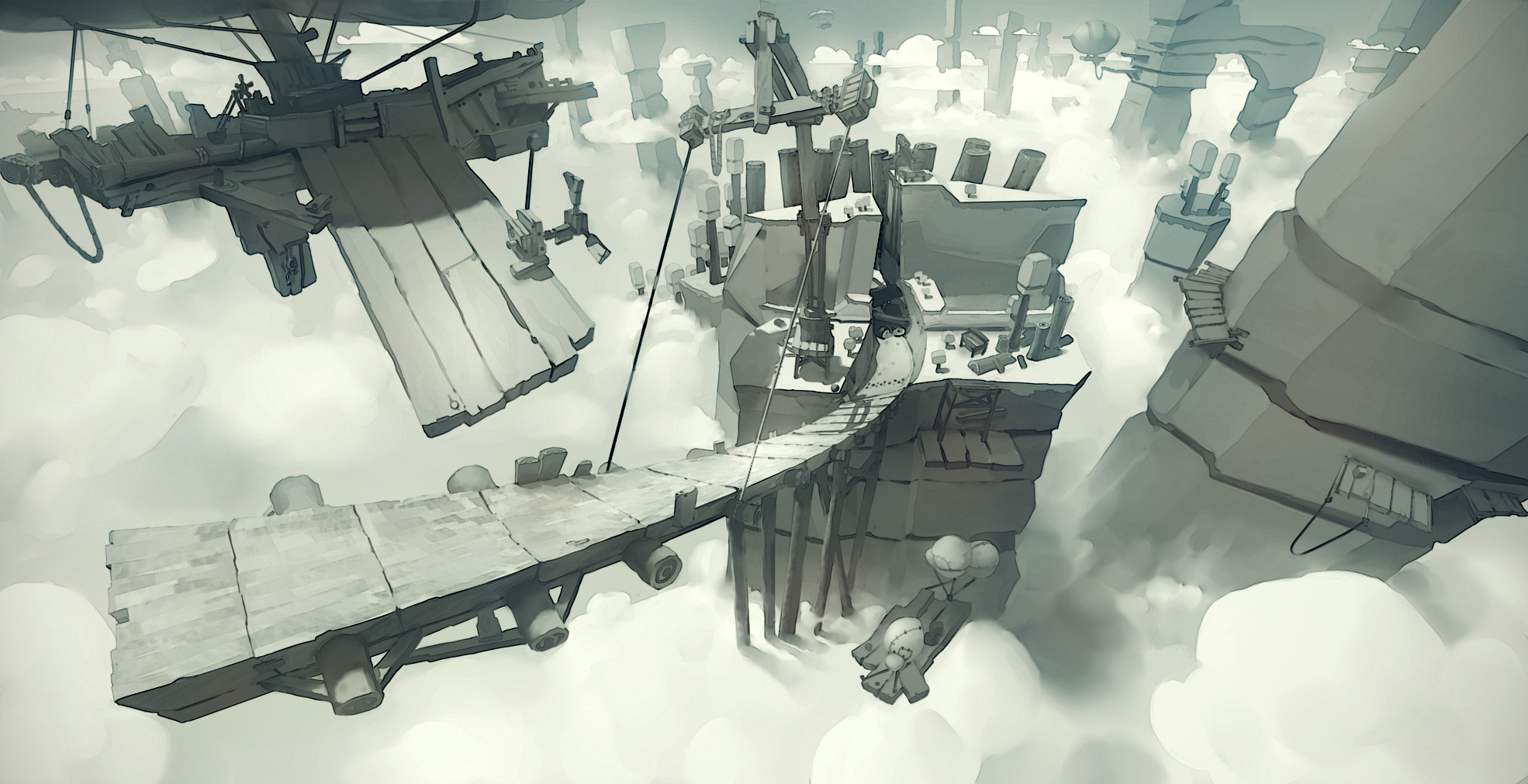 Check out this concept art for environments and tracks in Angry Birds Go!