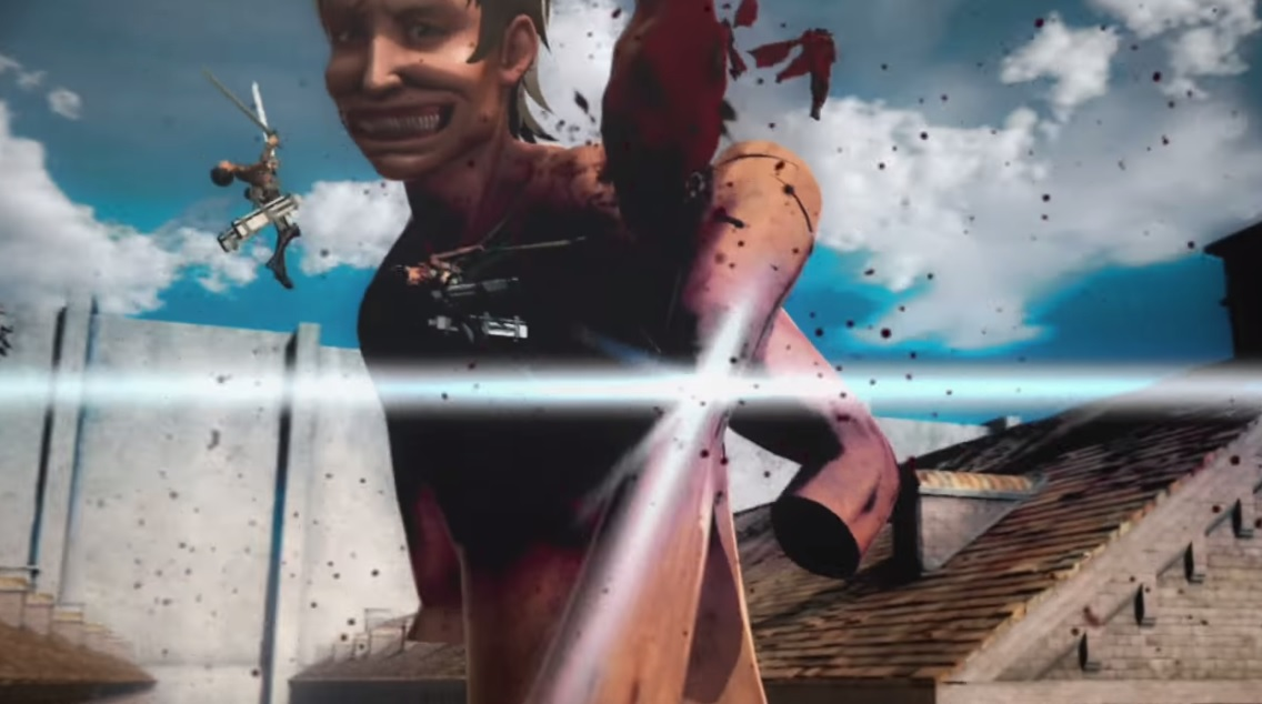 First footage of Dynasty Warriors dev's Attack on Titan game is nasty