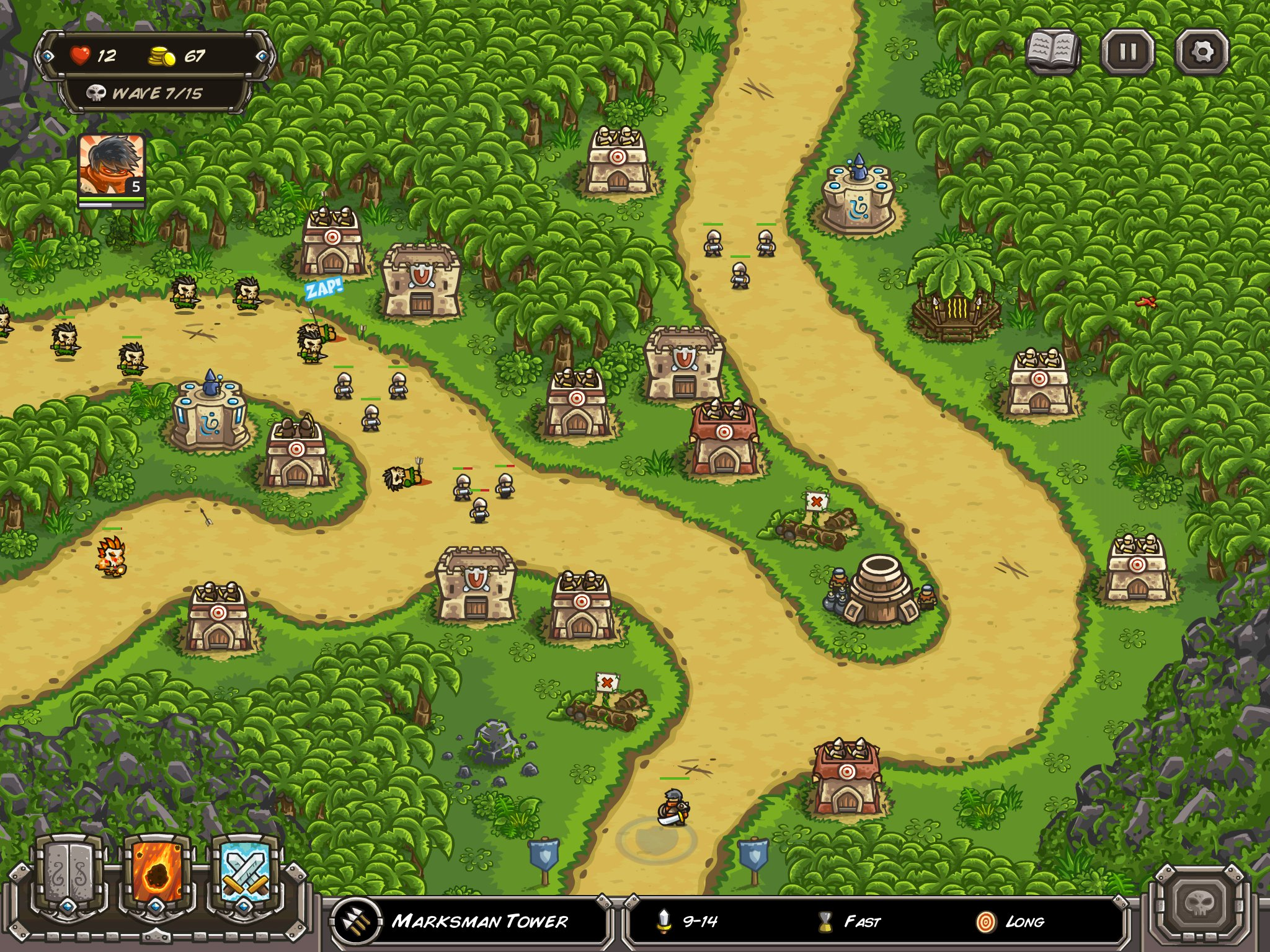 Tower defence classics Kingdom Rush and Kingdom Rush: Frontiers are dirt cheap on iPad and iPhone right now