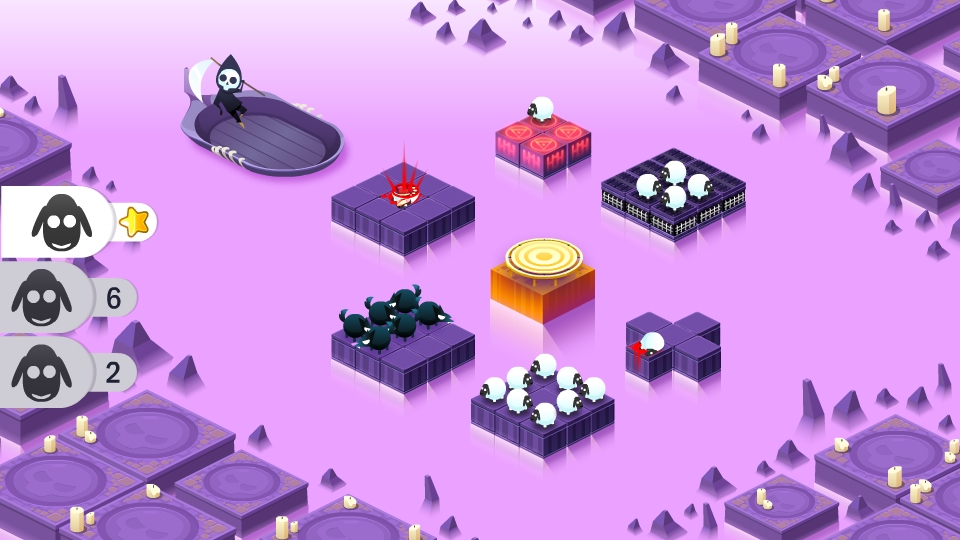 Hands-on with Divide By Sheep - a maths-based puzzler about slicing sheep in half