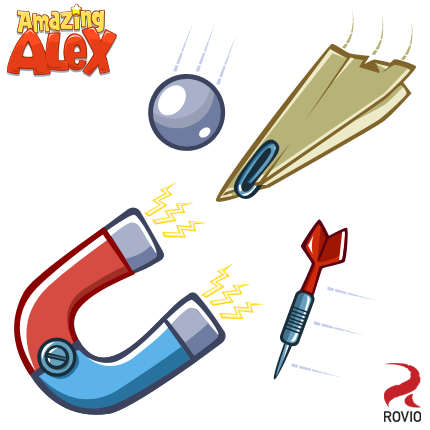 Rovio posts revealing images of Amazing Alex's contraption-building toolkit