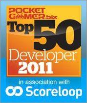 Gameloft tops PocketGamer.biz Top 50 developers list